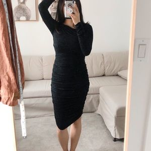 BNWT Bailey44 Anthro Fitted Ruched Dress XS